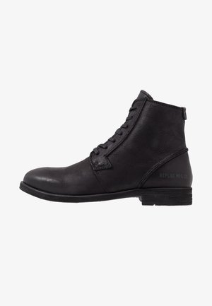 HOTMAN - Bottines à lacets - black