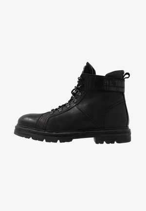 DUNSER - Bottines à lacets - black