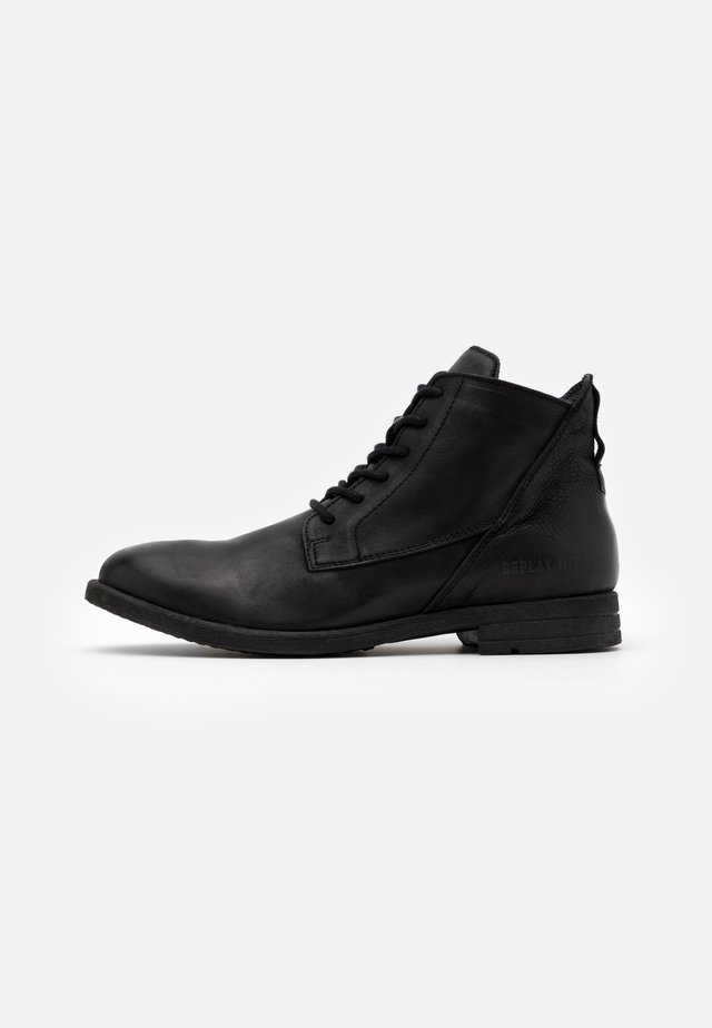 GUNHILL - Lace-up ankle boots - black