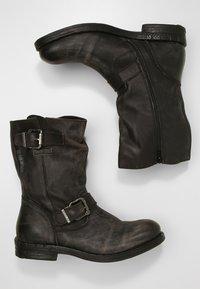 Replay - MAXWELL - Kowbojki i obuwie motocyklowe - black - 1
