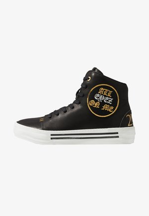 2PAC TRIBUTE PATCH MID CUT - High-top trainers - black