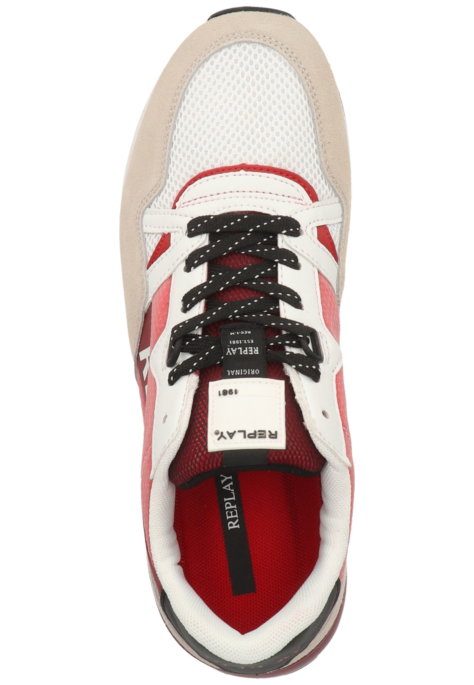 Sneakers laag white red 079