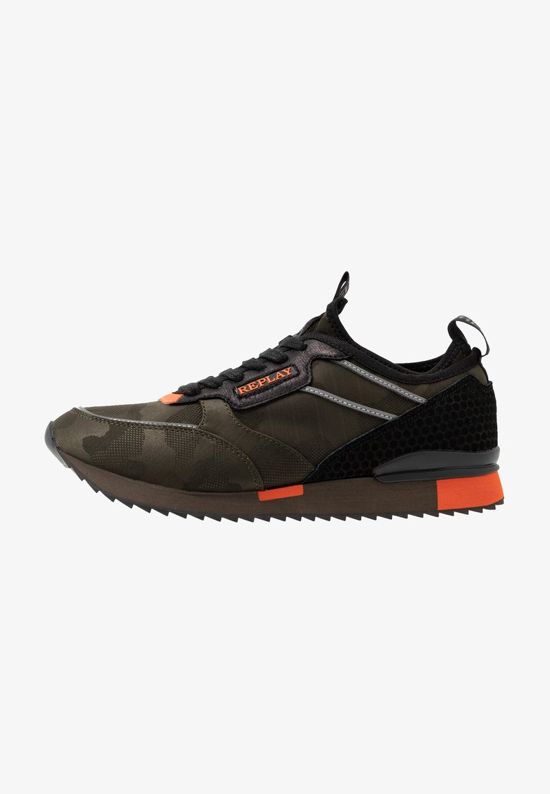 Replay - STONEWALL - Sneakers laag - military green/orange