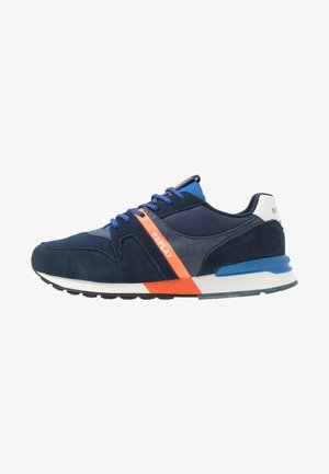TIGHER - Sneakersy niskie - navy/orange