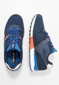 Replay - TIGHER - Sneakersy niskie - navy/orange - 1