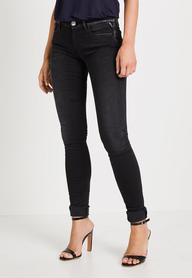Replay - LUZ HYPERFLEX - Jeans Skinny Fit - black denim
