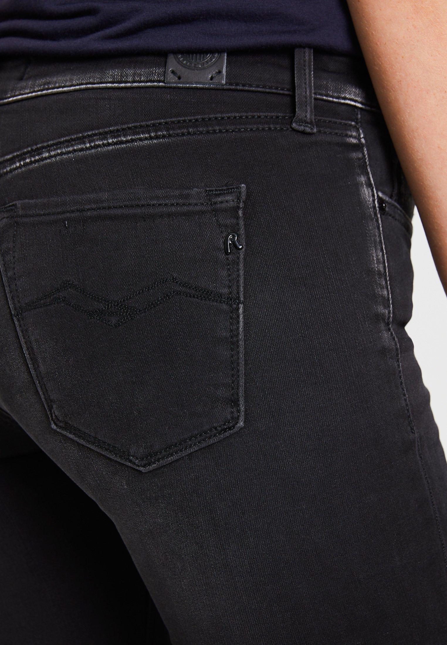 Replay LUZ HYPERFLEX - Jeansy Skinny Fit - black denim