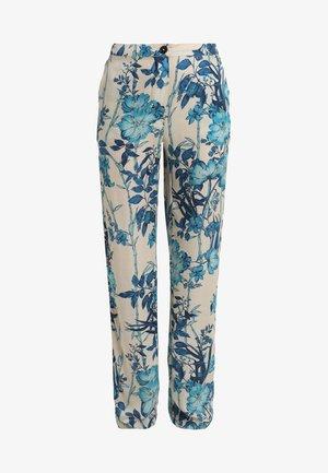 PANTS - Pantaloni - beige/blue