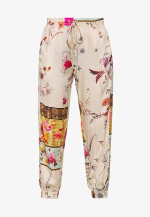 PANTS - Pantaloni - beige/multi-coloured
