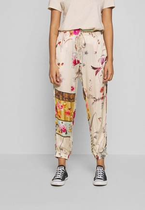 PANTS - Trousers - beige/multi-coloured