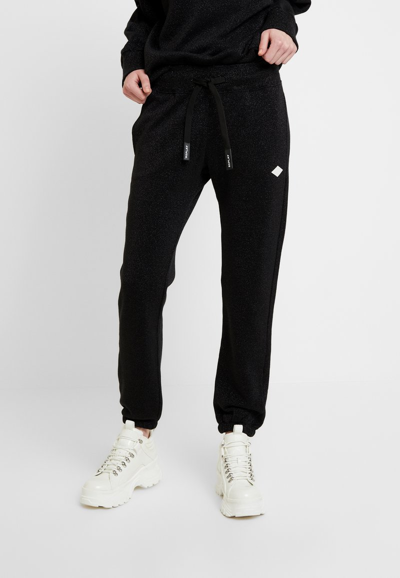 Replay - Tracksuit bottoms - black