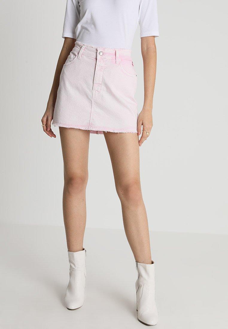 Replay - SKIRT - Jupe en jean - pink