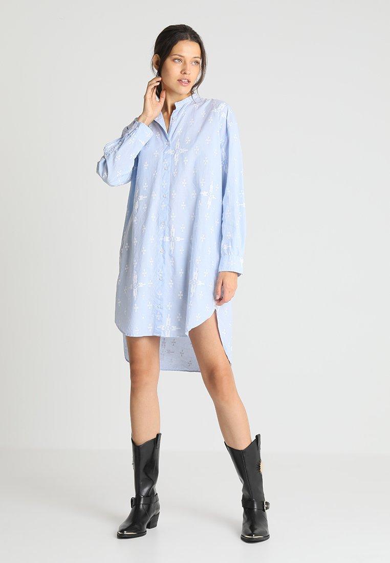 Replay - DRESS - Blusenkleid - azure/white