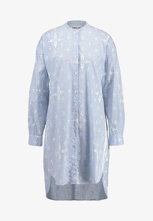 DRESS - Skjortklänning - azure/white