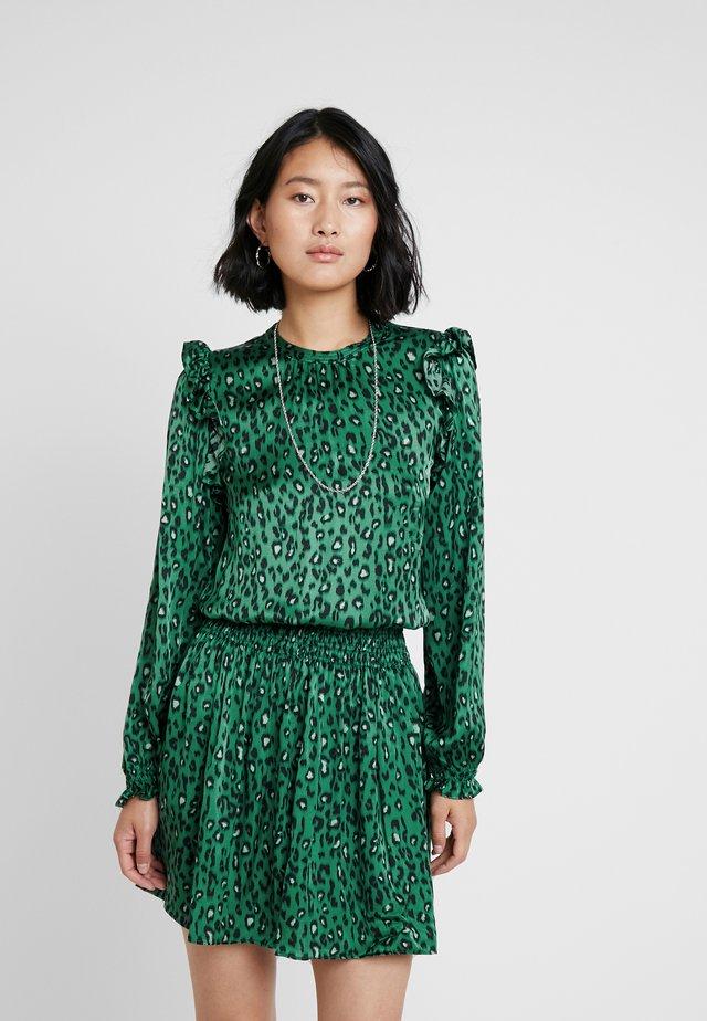 DRESS - Vestito estivo - green/black