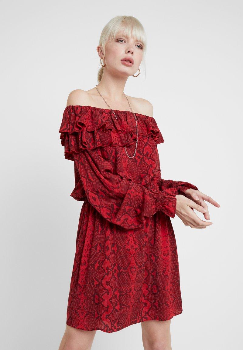 Replay - DRESS - Day dress - red/black