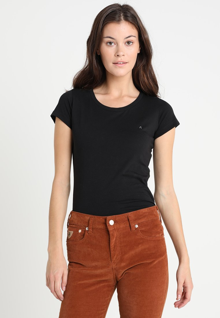 Replay - 2 PACK - Basic T-shirt - white/black
