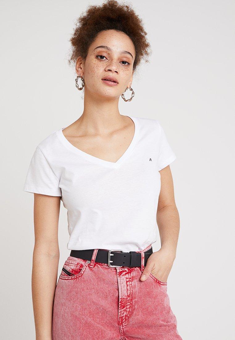 Replay - 2 PACK - T-Shirt basic - white/white