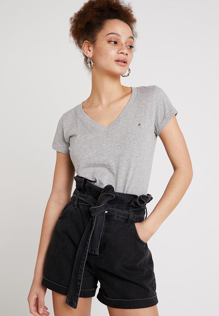 Replay - 2 PACK - T-Shirt basic - grey melange