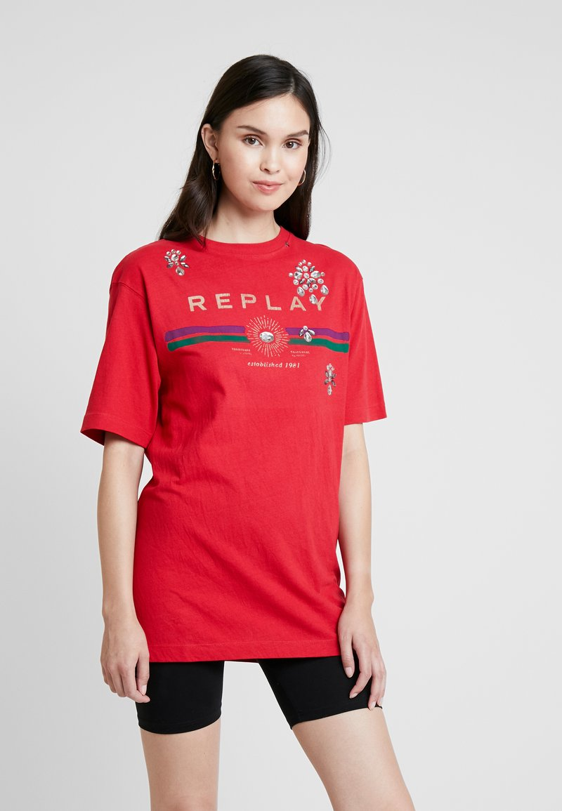 Replay - T-Shirt print - cherry red