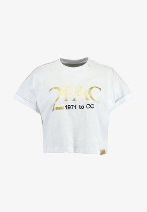 2PAC TEE - T-shirt z nadrukiem - white