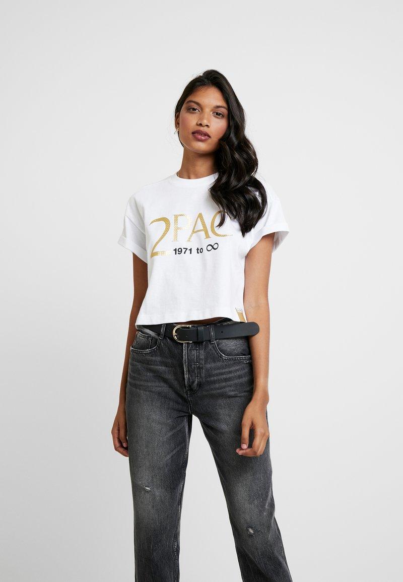 Replay - 2PAC TEE - T-Shirt print - white