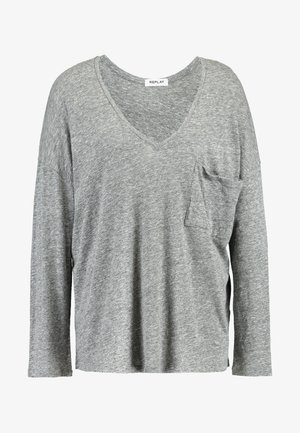LONG SLEEVES - Long sleeved top - medium grey melange