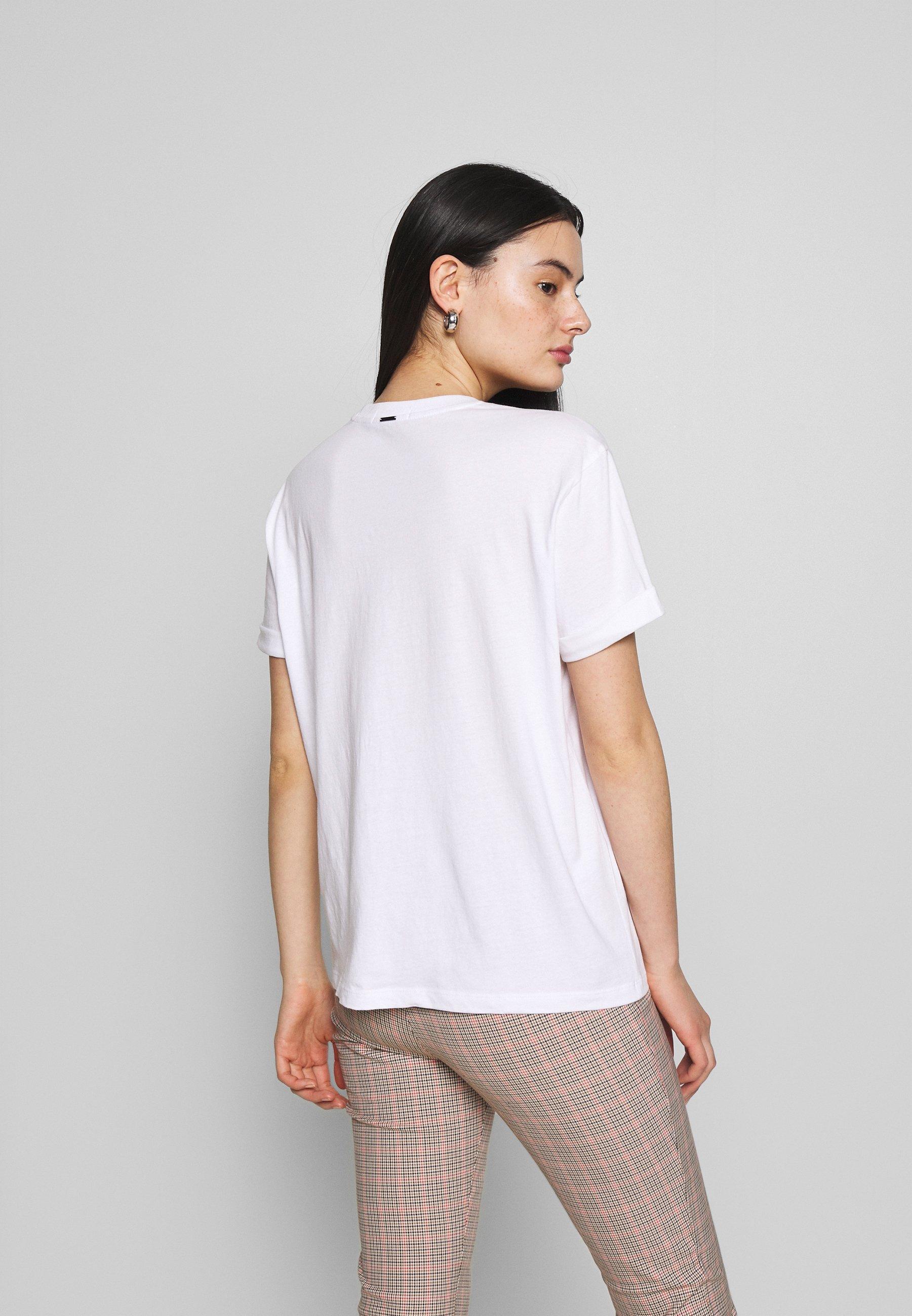 Replay T-shirt z nadrukiem - white