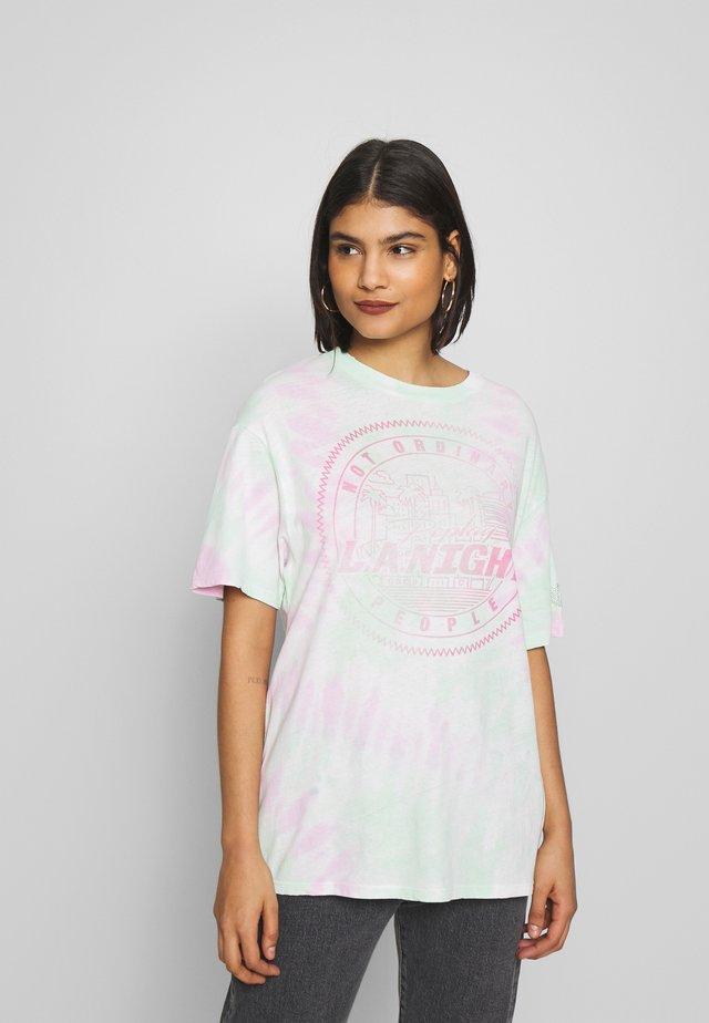 T-Shirt print - tye dye