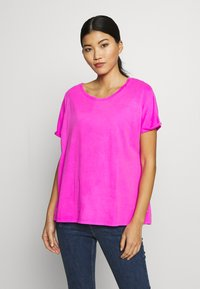 Replay - T-shirt con stampa - fuchsia - 0