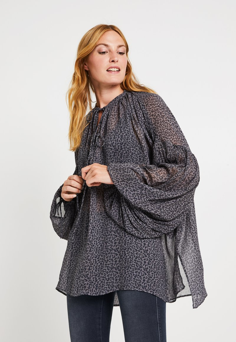 Replay - Blouse - grey/black