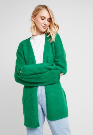 Chaqueta de punto - light emerald green