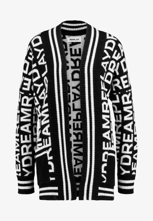 Cardigan - black/white
