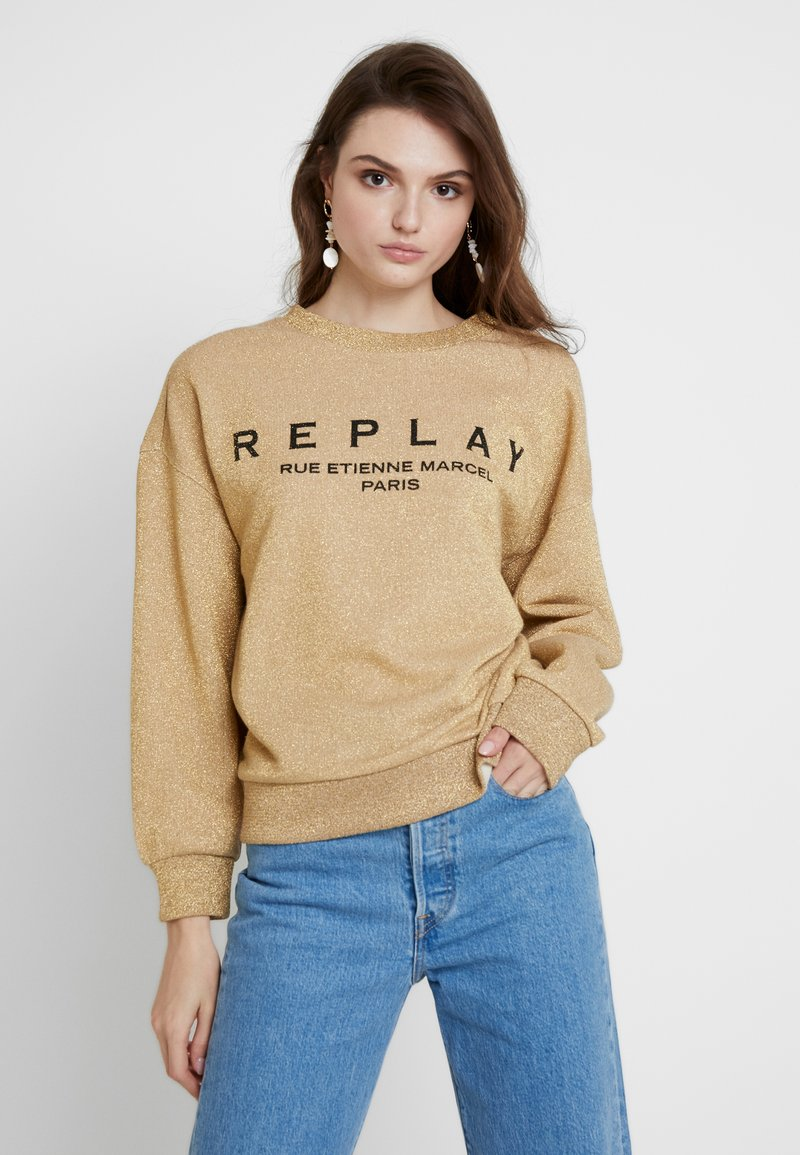 Replay - Sweatshirt - dark gold