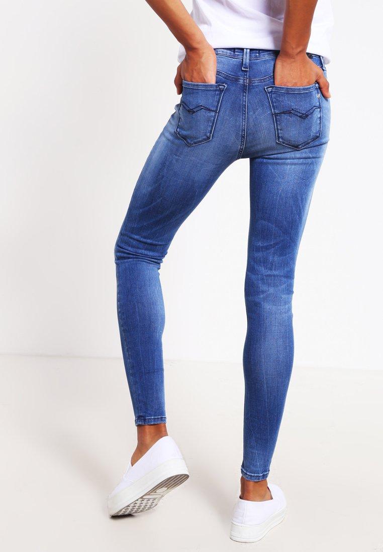 Replay HYPERFLEX LUZ  - Jeansy Skinny Fit - mid blue