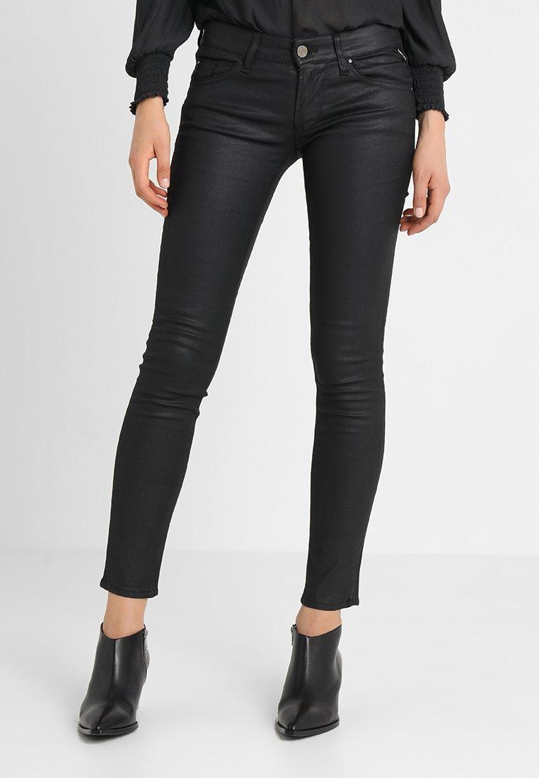 Replay - LUZ BACK ZIP PANTS - Jeans Skinny Fit - black