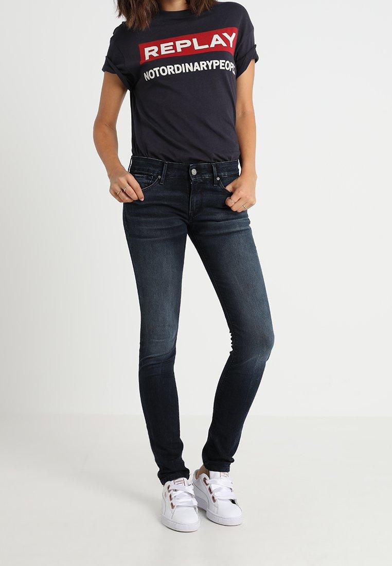 Replay - LUZ PANTS LASERBLAST - Jeans Skinny - blue-black denim
