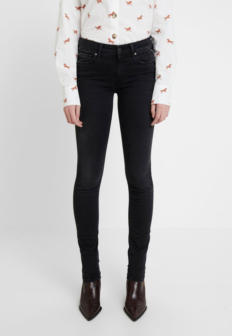 Replay - LUZ HIGH WAIST HYPERFLEX CLOUDS - Jeans Skinny Fit - black