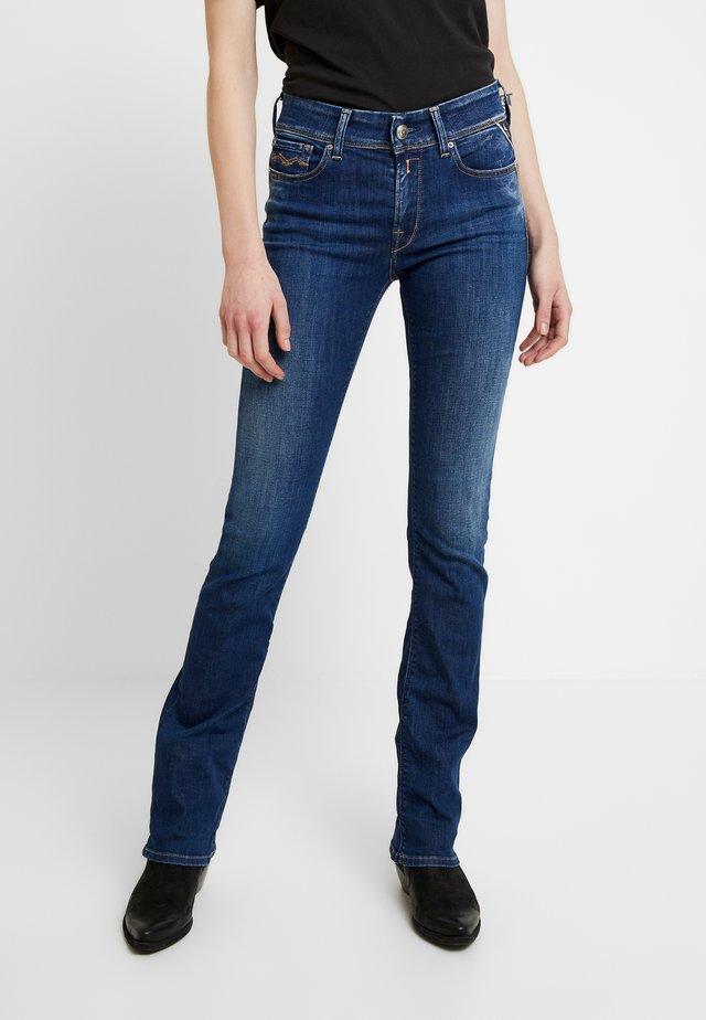 LUZ - Jeans Bootcut - mediumblue