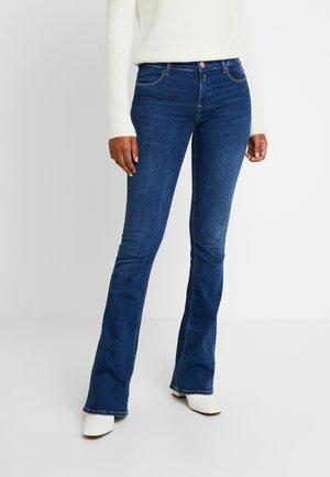 STELLA FLARE - Flared Jeans - mediumblue