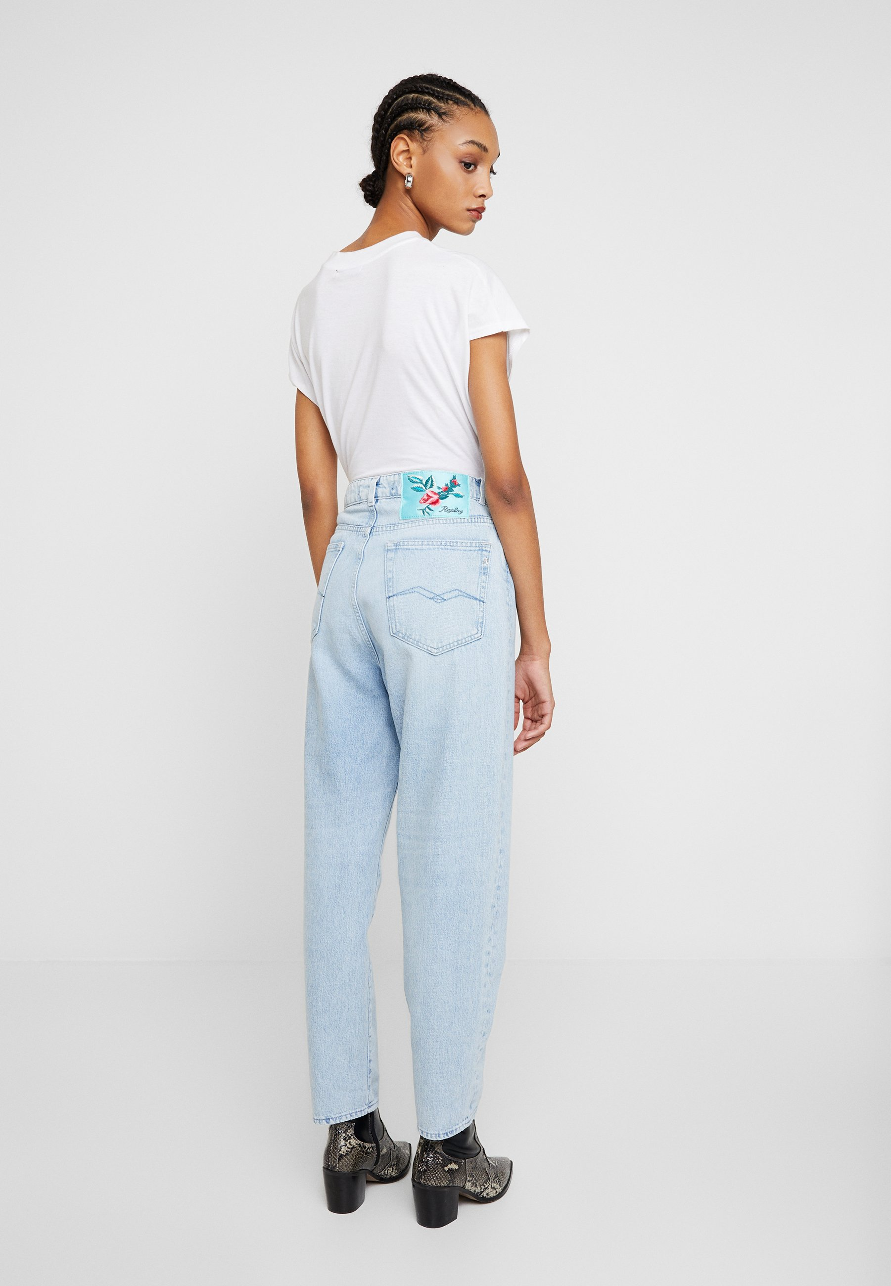 Replay TYNA - Jeansy Relaxed Fit - lightblue
