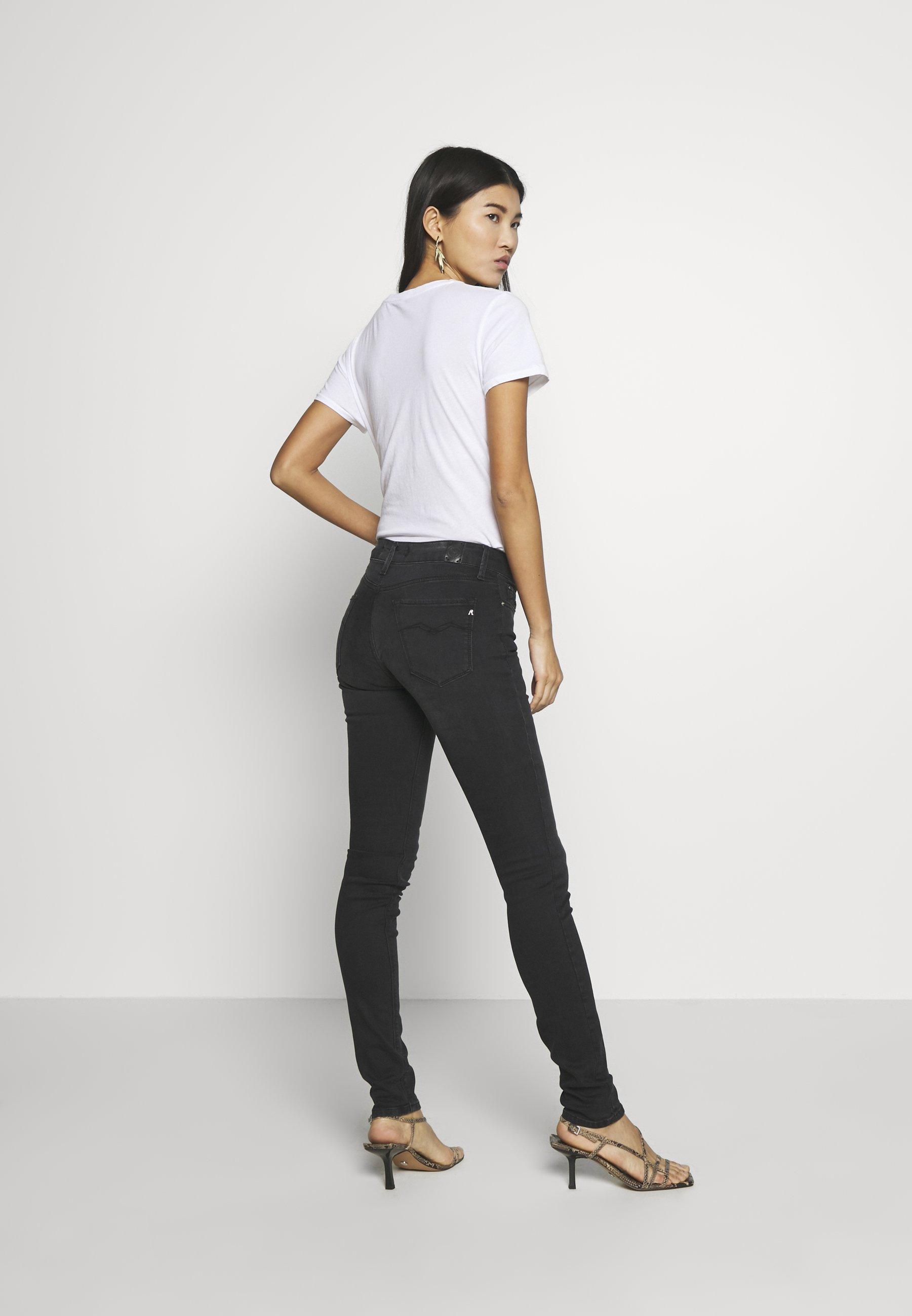 Replay NEW LUZ - Jeansy Skinny Fit - dark grey