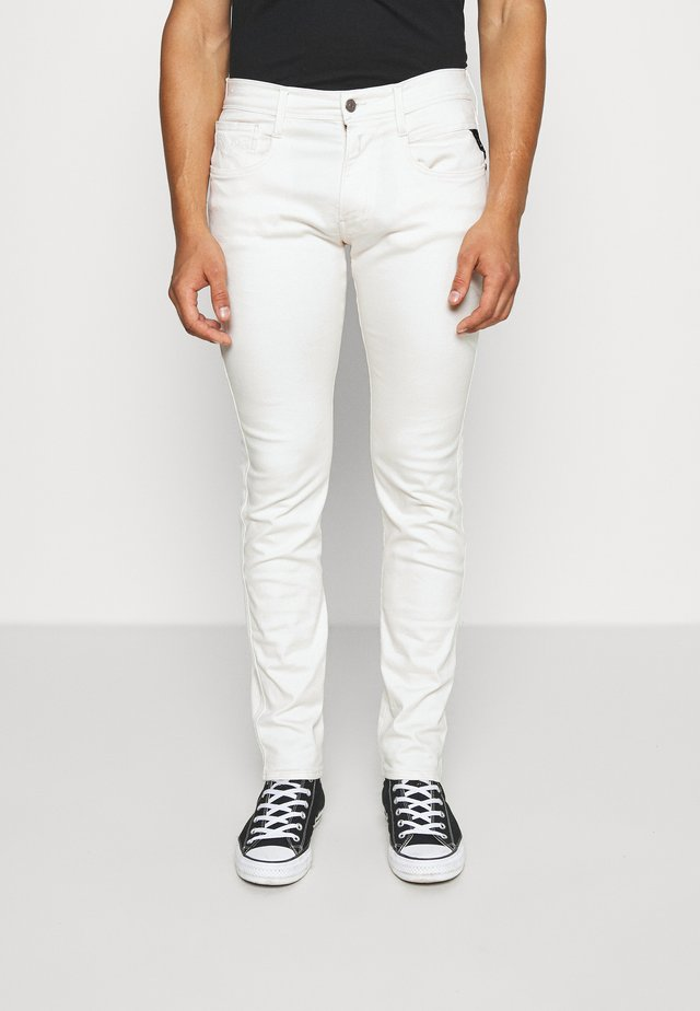 ANBASS - Jeansy Slim Fit - off-white