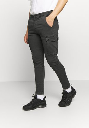 JAAN HYPERFLEX - Cargo trousers - blackboard