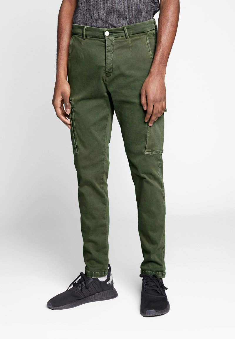 Replay - JAAN HYPERFLEX - Cargo trousers - hunter green