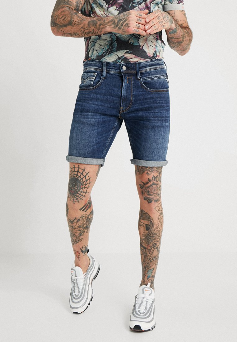 Replay - ANBASS - Jeans Shorts - dark blue