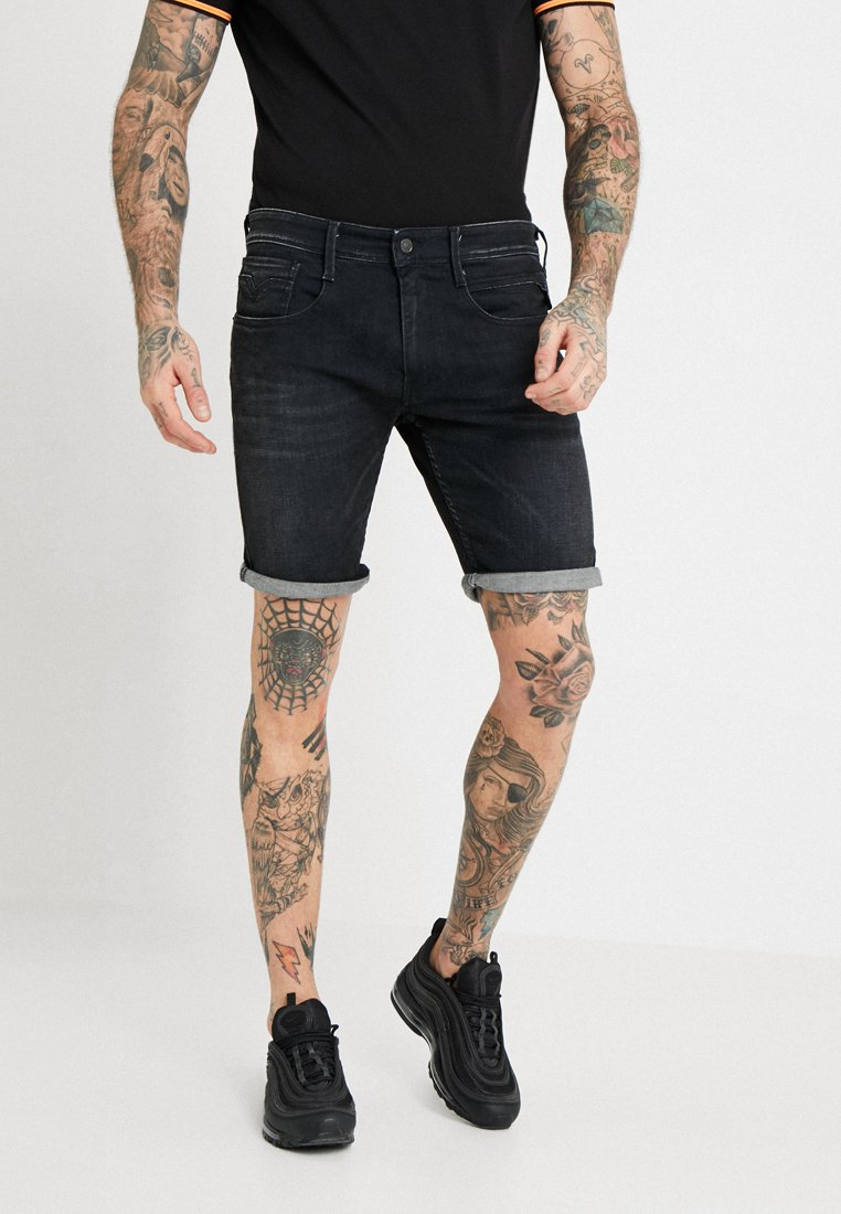 Replay - ANBASS - Jeans Shorts - black