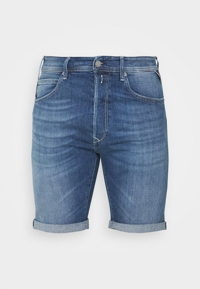 Jeansshort - dark-blue denim