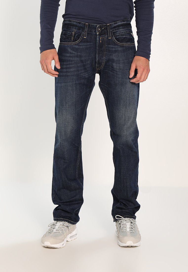 Replay Newbill - Jeans Straight Leg Dark-blue