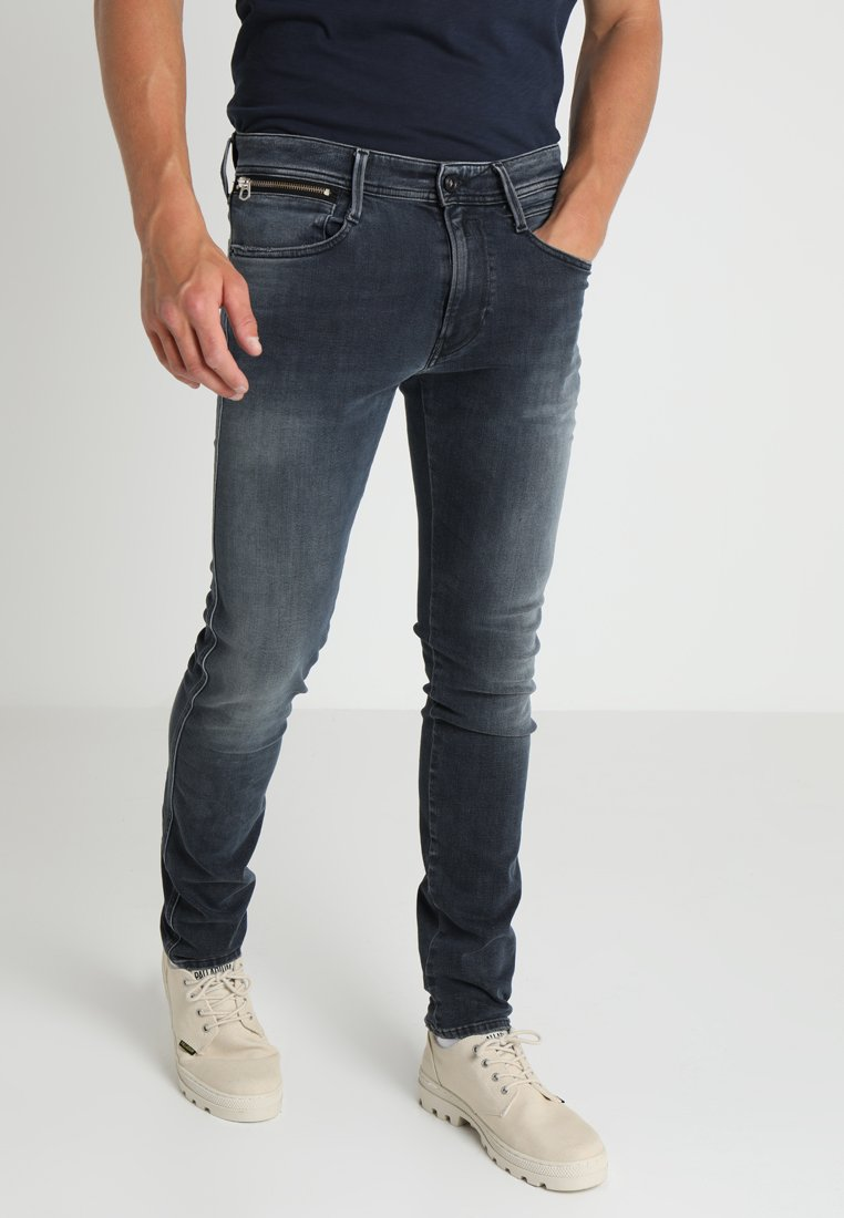 Replay - ANBASS COIN ZIP - Jeans Slim Fit - blue denim